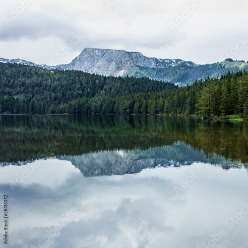 Black lake in Durmitor, Montenegro