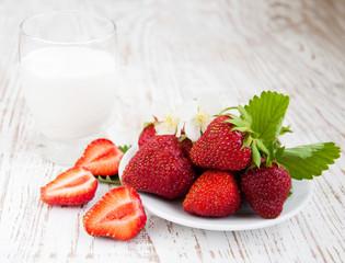 Strawberry  and yogurt