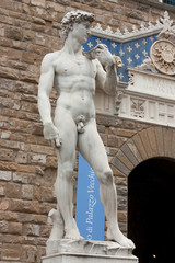 Florence - Famous Statue of David in Florence (replica)