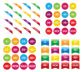 ribbons stickers