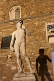 Florence - Famous Statue of David in Florence (replica) with Pal
