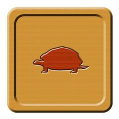 Bottone legno tartaruga