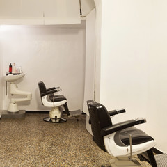 Old barber shop, interior