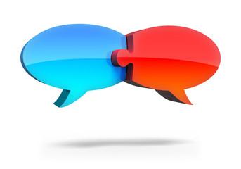 Kommunikation Sprechblasen Puzzle