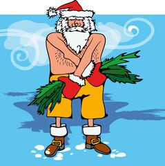 Санта-Клаус голой