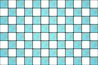 White and blue textured mosaic