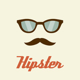 Hipster glasses, Hipster man. Vector illustration