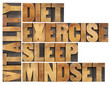 diet, sleep, exercise and mindset - vitality