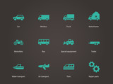 Cars and Transport icons.