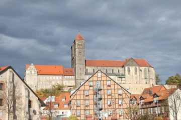 Blick zum Quedlinburger Schlossberg