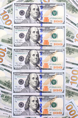 Background of the new U.S. hundred-dollar bills put into circula