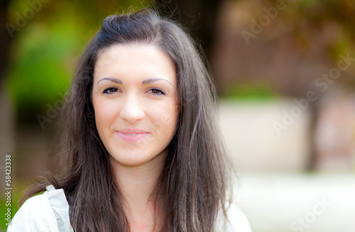 Smiling woman at the park