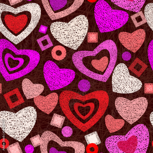 Valentine day seamless background pattern