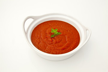 Tomato sauce in a bowl