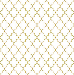 Seamless golden oriental window grille