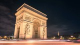 Paris Arc de Triumph night traffic Timelapse in Full HD 1080p
