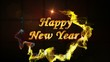 Happy New Year in Falling Cubes, Loop