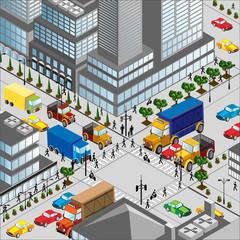 Crossing of city