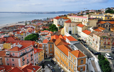 Panorama of Alfama, Lisbon