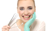 attractive, dentist, esthetic, face, medicine, tooth, young poster