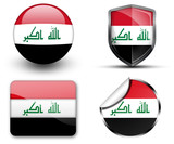 Iraq flag button sticker and badge