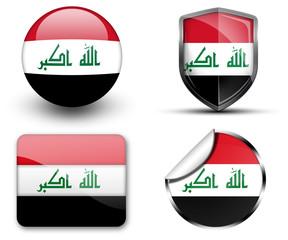 Iraq flag button sticker and badge