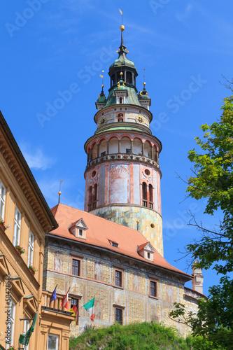 Foto op Canvas Milan Cesky Krumlov / Krumau castle and tower, UNESCO World Heritage S