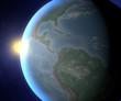 Mondo terra sole globo America spazio satellite