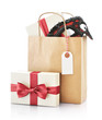 Paper bag with gifts