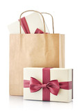 Fototapety Paper bag with gifts