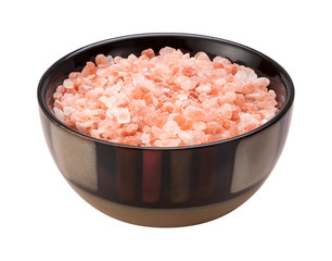 Pink Himalayan Salt Isolated clipping path