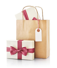 Paper bag with gift