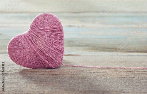 Pink clew in shape of heart