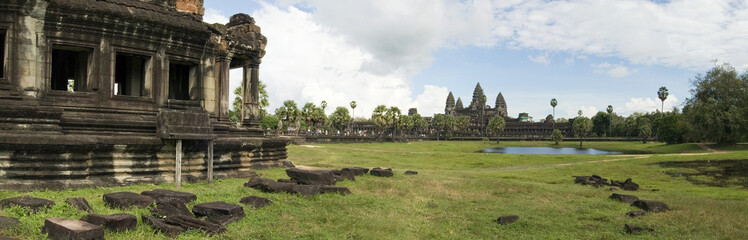 Angkor Wat Temple, Viewed From The Southern Library, Cambodia