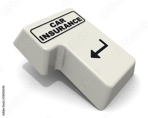 Car insurance (Автострахование). Клавиша ввод клавиатуры