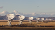 Leinwanddruck Bild - Very Large Array satellite dishes at Sunset in New Mexico, USA