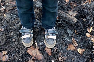 homeless boy feet