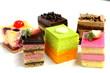 Mini cake delicious on plate