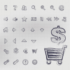 Sketched Vector Icons