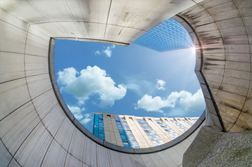 Modern architecture in the business district of La Defense, Pari