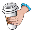 hand with coffee