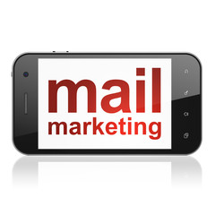 Marketing concept: Mail Marketing on smartphone