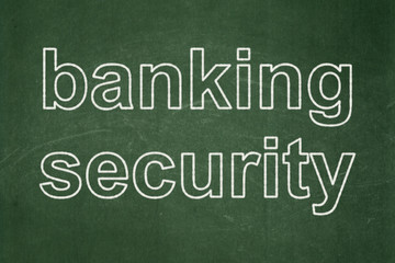 Privacy concept: Banking Security on chalkboard background