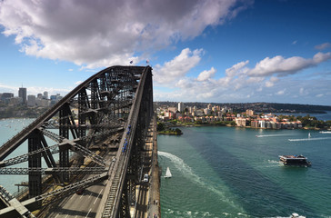View from the Pylon Lookout on Sydney Harbour. Harbour Bridge. S