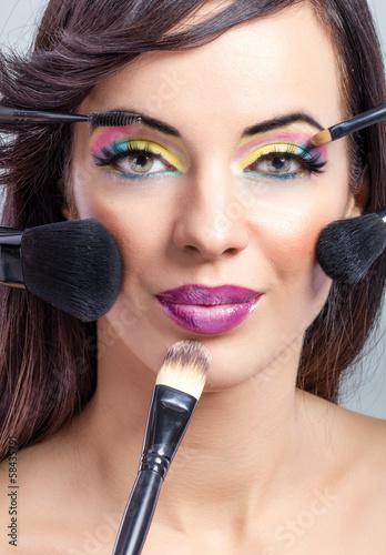 Fototapeten,kunst,gestalten,makeup,haare