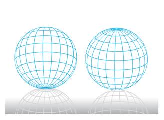 grid earth icons