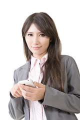 Young asian businesswoman with mobile phone