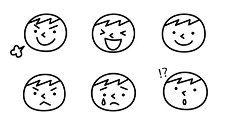 男の子の表情