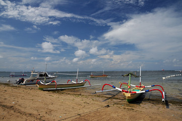 Bali, Indonesia. Spiaggia dei pecatori