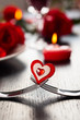place setting for Valentine's day - 58438100